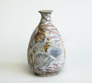 bottle, wood soda fired