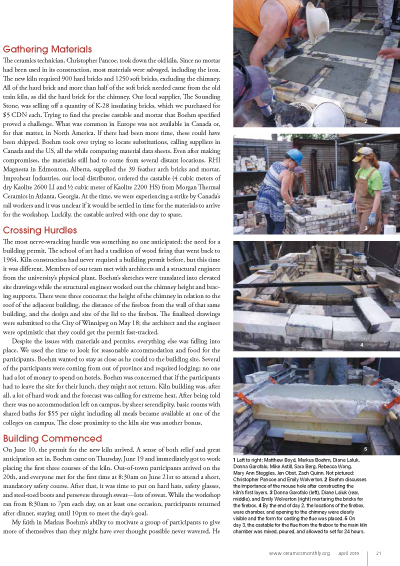 Article Ceramics Monthly page 2 bourry box kiln build