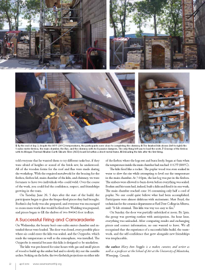Article Ceramics Monthly page 3 bourry box kiln build