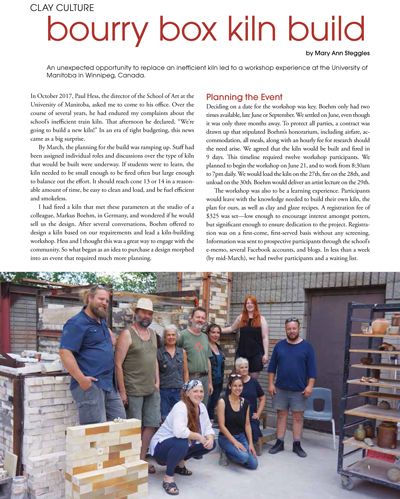 Article Ceramics Monthly page 1 bourry box kiln build